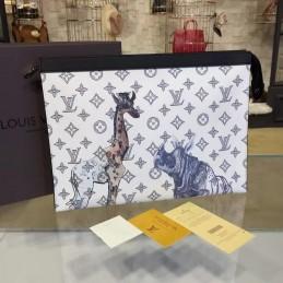 Replica Louis Vuitton Pochette Voyage MM Savane Chapman