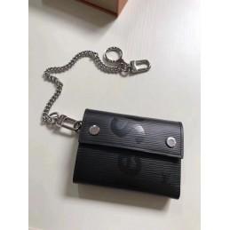 Replica Louis Vuitton Supreme Rivets Chain Compact Wallet