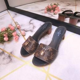 Replica Louis Vuitton Lock It Mule Sandal