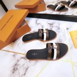 Replica Louis Vuitton Lock It Flat Mule Sandal