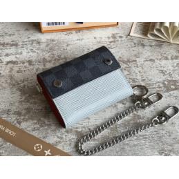 Replica Louis Vuitton Rivets Chain Compact Wallet