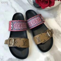 Replica Louis Vuitton Bom Dia Flat Mule Sandal